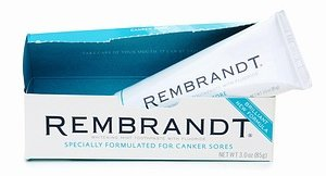 Rembrandt Whitening Canker Sore Toothpaste with Fluoride