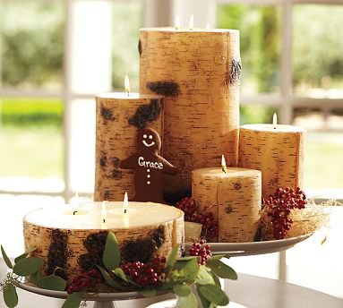 Pottery Barn Birch Pillar Candle