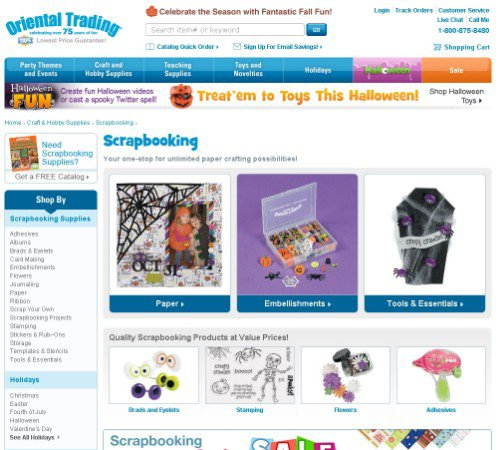 oriental trading website