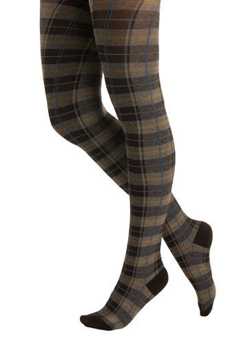 Launch Plaid Tights