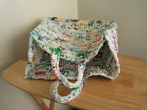 Crocheting With Plastic Bags : ... - Crochet Bag Las Needlecraft Shop Plastic Grocery Bag Holder Doll
