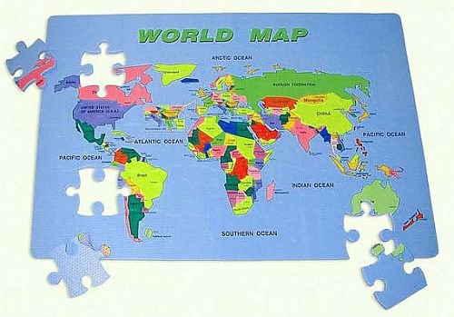 World Map Puzzle 10 Educational Christmas Gifts for Children