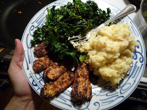 Mashed Potatoes with Kale and Olive Oil