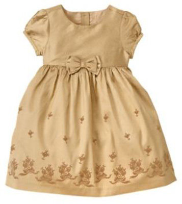 Janie And Jack Flocked Silk Dress 8 Adorable Holiday