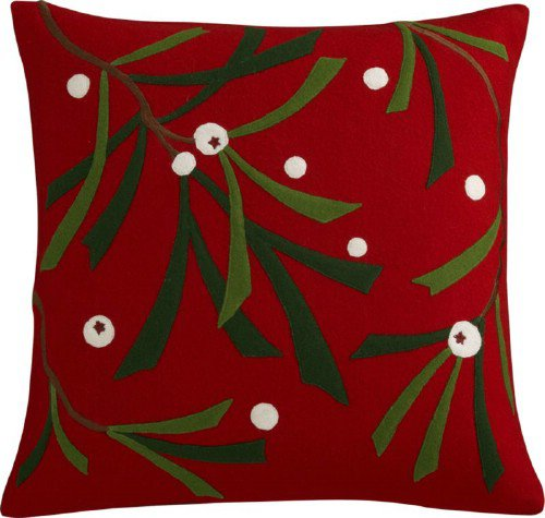 "Crate & Barrel Alpine Red 18"" Pillow"
