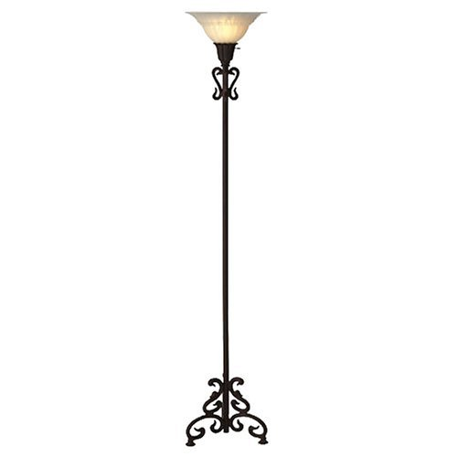 Iron scroll floor lamp 8 pretty lamps for your living for Living room floor lamps