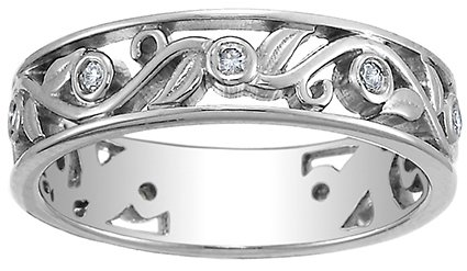 brilliant earth platinum leaves and buds diamond ring - Pretty Wedding Rings