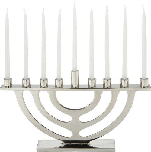 1 silver menorah - Hanukkah Decorations