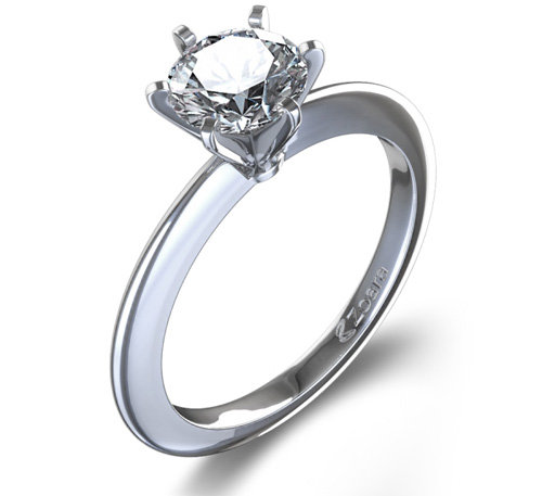 classic solitaire 5 classically engagement ring