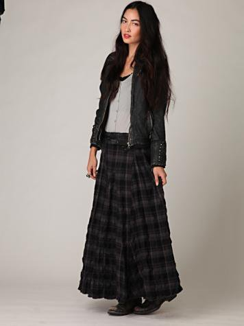CP Shades Plaid Maxi Skirt - 7 Gorgeous Long Skirts from Free…