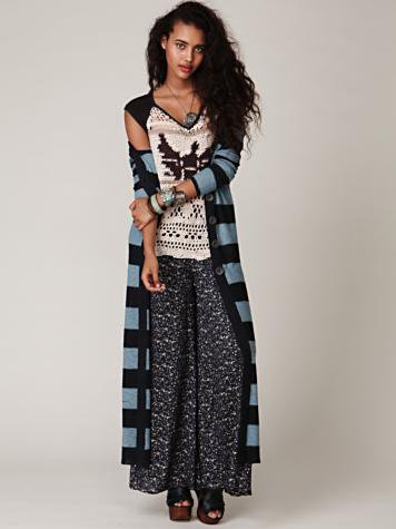 Free People New Horizons Maxi Cardigan