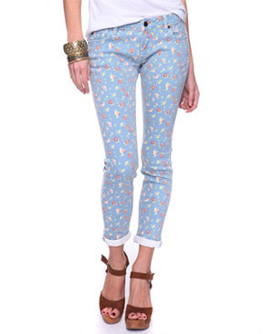 Floral Capri Jeans - 8 Pairs of Colored Denim Jeans for Spring ...…