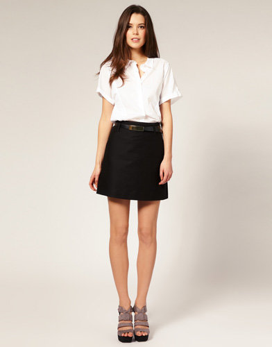Mini High Waisted Skirt - Dress Ala