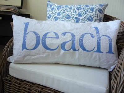 9. Coastal Chic Beach Lumbar Pillow - 10 Pretty Pieces to Bring