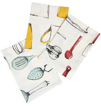 Penciled Primaries Dish Towel Set