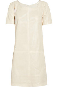 J.Crew Perforated Leather Shift Dress