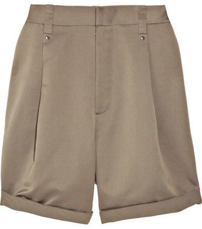 Chloé Cotton and Silk-Blend High Waisted Shorts - 7 Terrific…