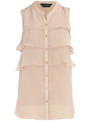 Dorothy Perkins Blush Ruffle Front Blouse