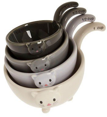 Meow for Measuring Cups - 7 Cute Measuring Cups and Spoons