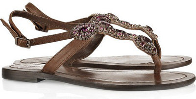 Antik Batik Embellished Leather Sandals