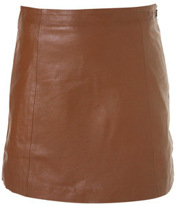 Topshop Leather a-Line Skirt