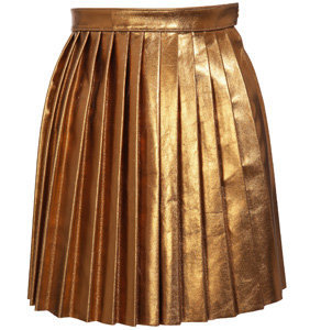House of Holland Pleated Leather Skirt - 7 Leather Skirts ... → 👗…