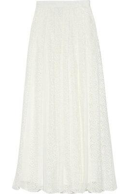 Adam Pleated Lace Maxi Skirt - 7 New Season Maxi Skirts ... → 👗…