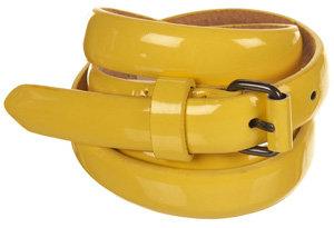 Topshop Patent Roller Buckle Belt