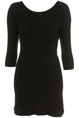 Topshop Short Jersey Scoop Back Dress