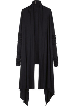 Rick Owens Lilies Draped Extra Long Cardigan - 7 Draped Cardigans…