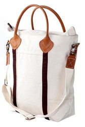 Leather Handle Canvas Tote Bag - 7 Gorgeous Bags from Bags Bonanza…