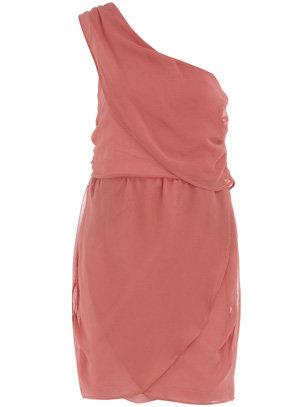Dorothy Perkins One Shoulder Drape Dress