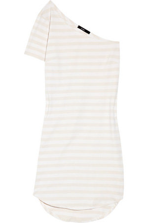 Bassike Stretch Organic Cotton One-Shoulder T-Shirt Dress
