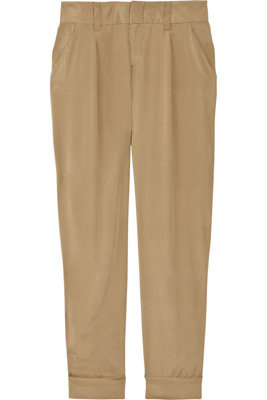 Alive + Olivia Arthur Cropped Stretch-Crepe Pants