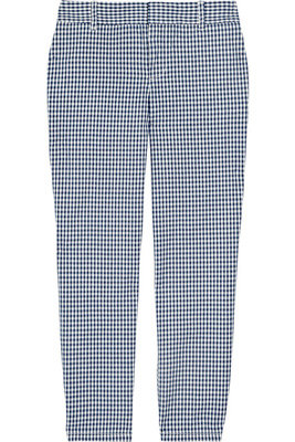 J.Crew Gingham Cropped Cotton Pants