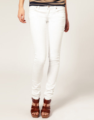 2. Mango White Skinny Jeans - 8 Hot Colored Jeans → 👗 Fashion
