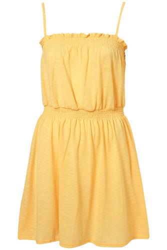 Topshop Yellow Jersey Sundress