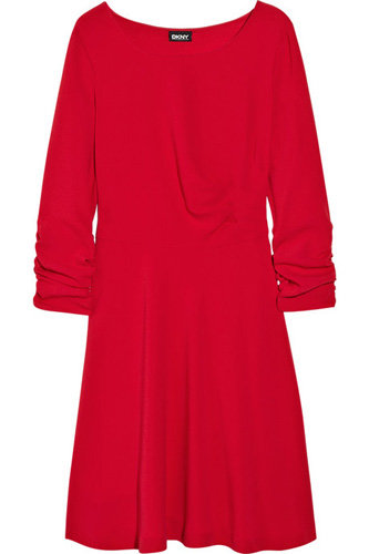 DKNY Ruched Crepe Dress