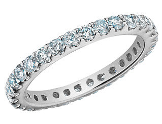 eternity diamond wedding band - Most Beautiful Wedding Rings