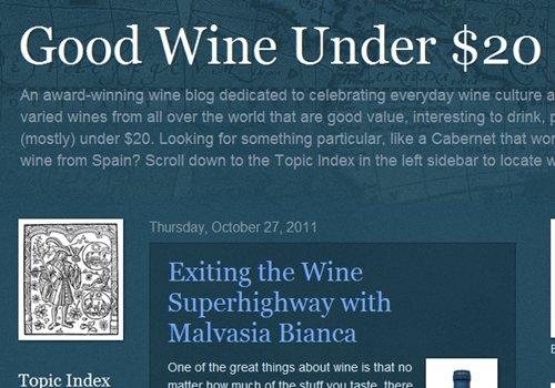 Good Wine under $20