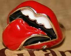 The Rolling Stone Inspired Red Lip Cocktail Ring