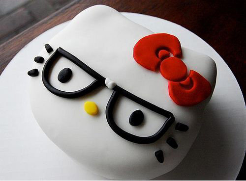 Hello Kitty Nerd Cake