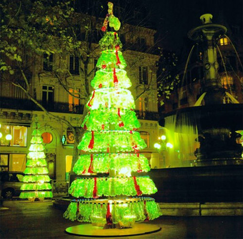 Water Bottle Christmas Tree