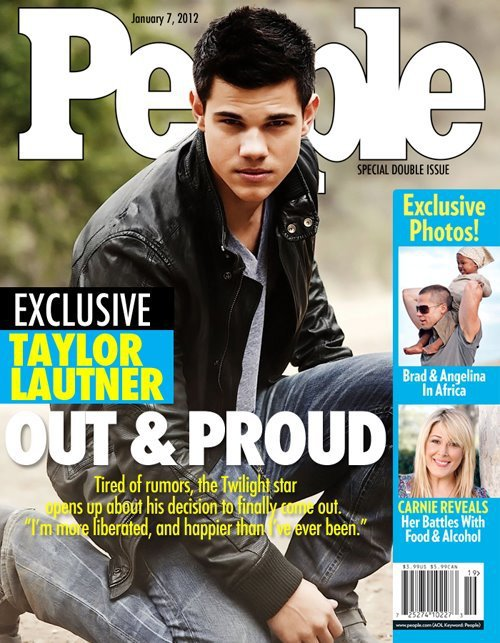 Taylor Lautner's Fake People Cover