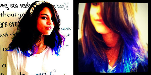 Selena Gomez is Black Purple and Blue