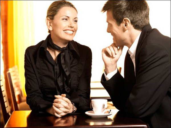 Body language of a woman interested in man