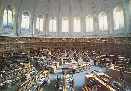 The British Museum Reading Room, London, England
