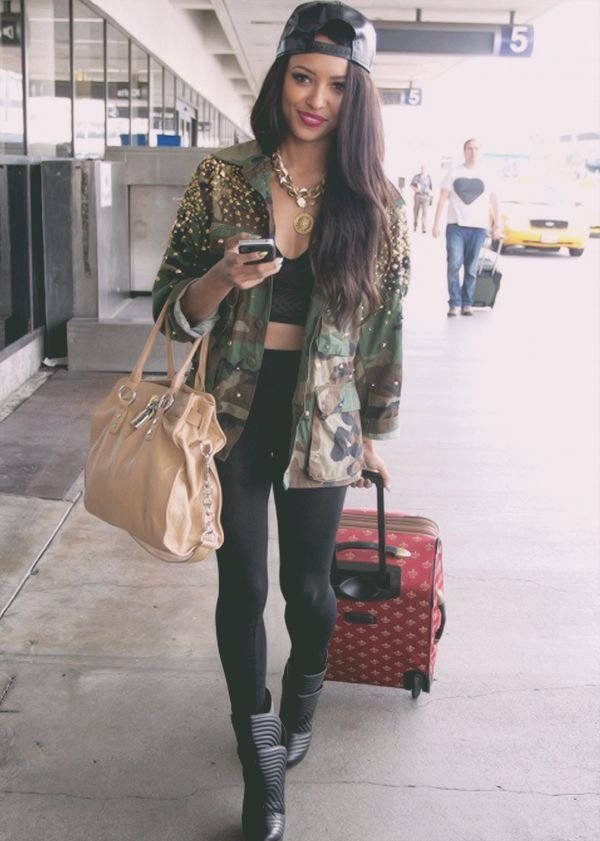 Studded Jacket 7 Awesome Street Style Camo Outfits To