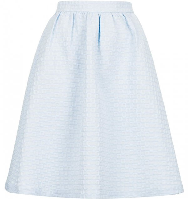 Topshop Textured Gathered Midi Skirt - 9 Pretty Pastel Midi Skirts…