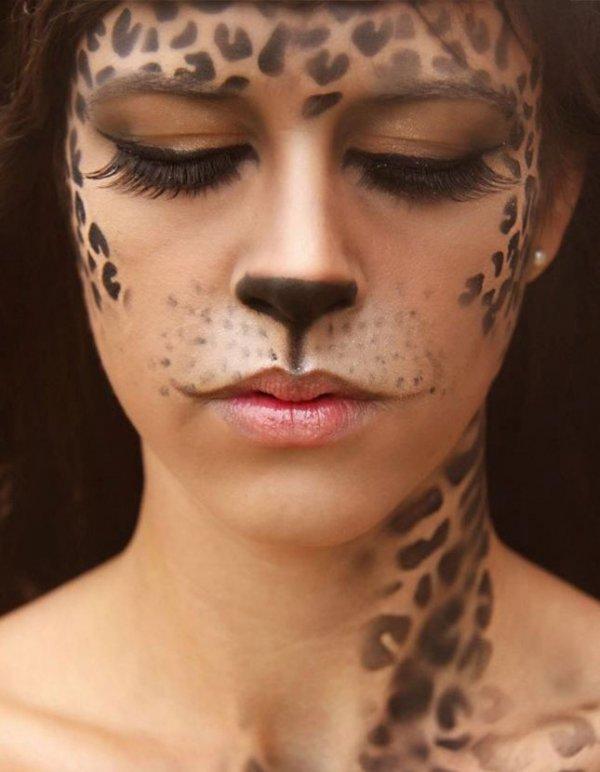 Leopard Face Paint Child